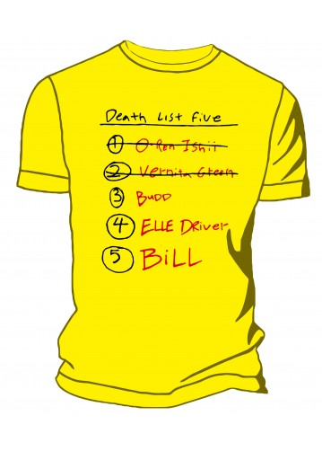 Kill Bill - Death list 5